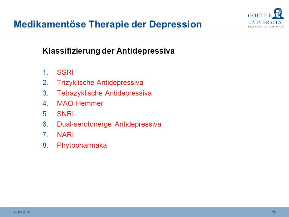 SSRI- Selektive Serotonin-Wiederaufnahme-Hemmer