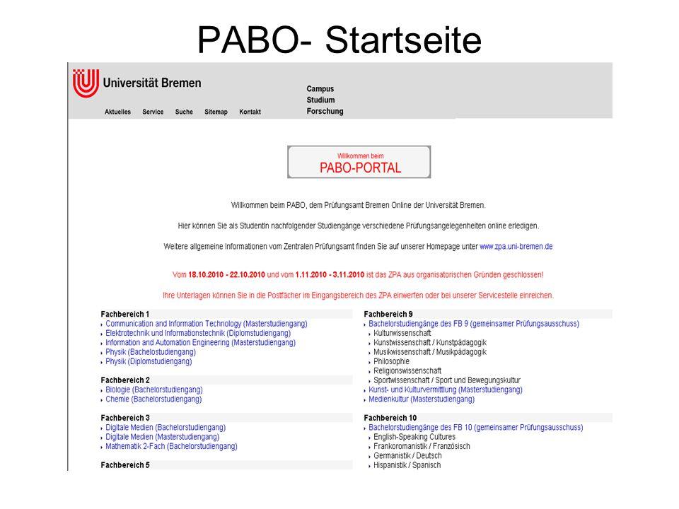 PABO- Startseite