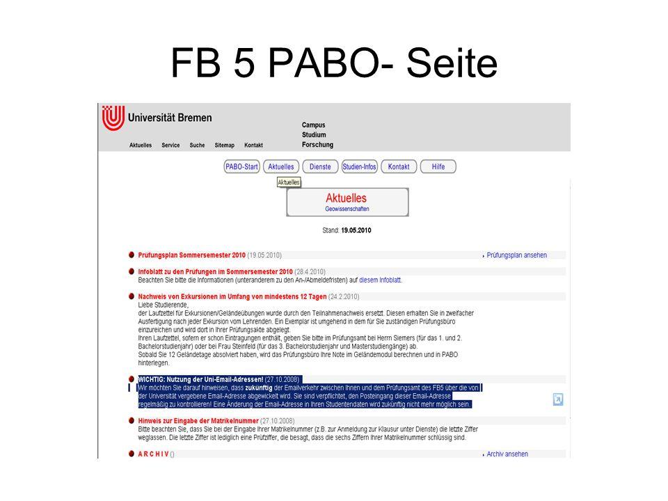 FB 5 PABO- Seite