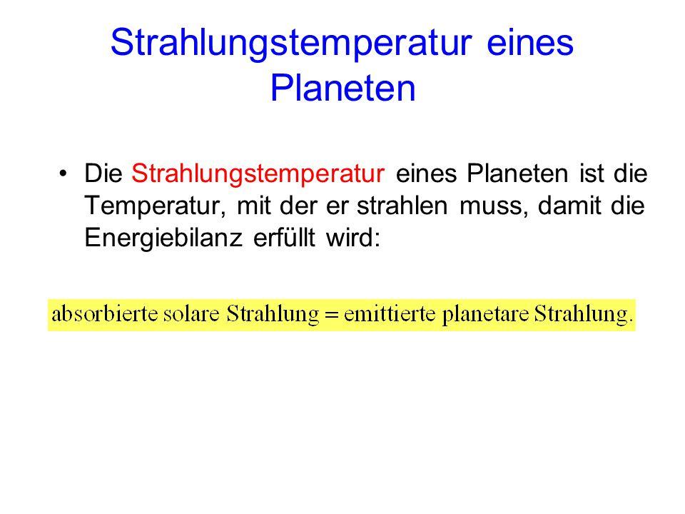 Strahlungstemperatur eines Planeten