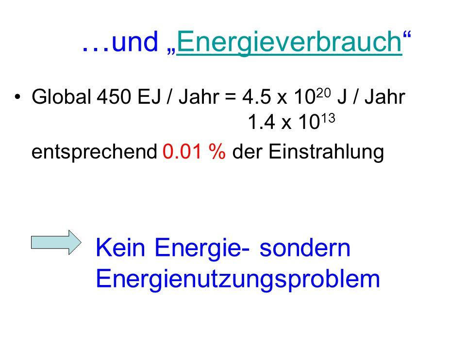 """…und """"Energieverbrauch"""