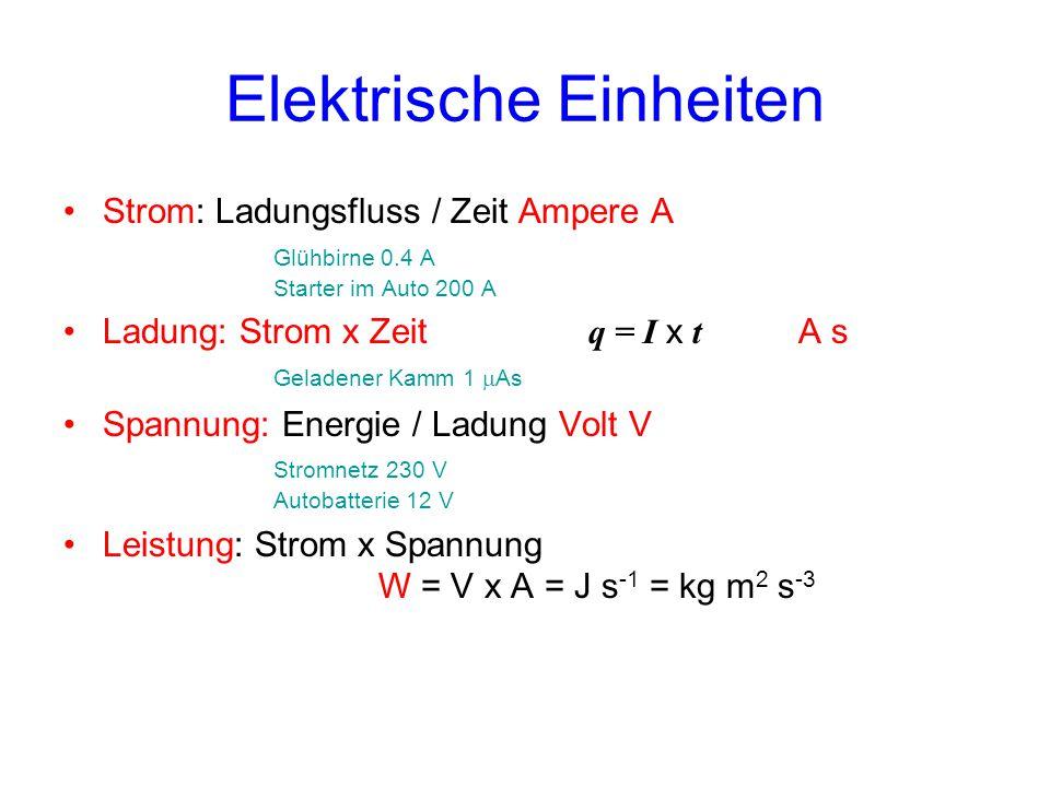 Elektrische Einheiten