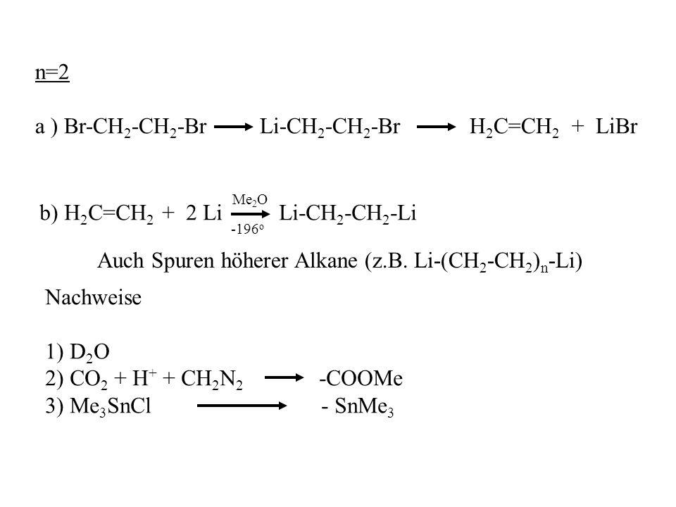 a ) Br-CH2-CH2-Br Li-CH2-CH2-Br H2C=CH2 + LiBr