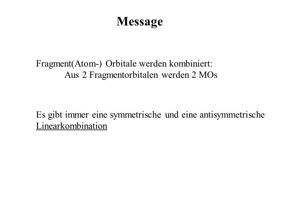 Message Fragment(Atom-) Orbitale werden kombiniert:
