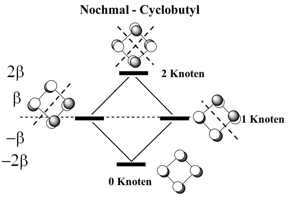 Nochmal - Cyclobutyl 2 Knoten 1 Knoten 0 Knoten