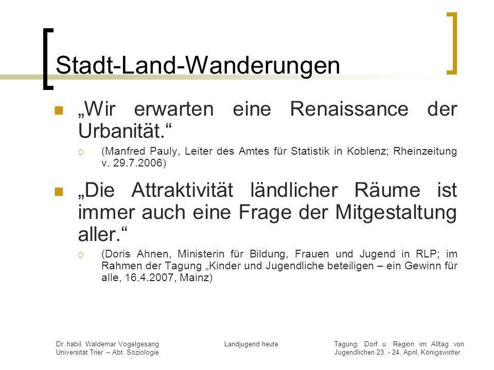 Stadt-Land-Wanderungen