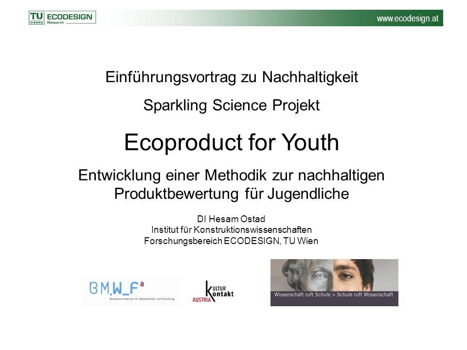 Ecoproduct for Youth Einführungsvortrag zu Nachhaltigkeit