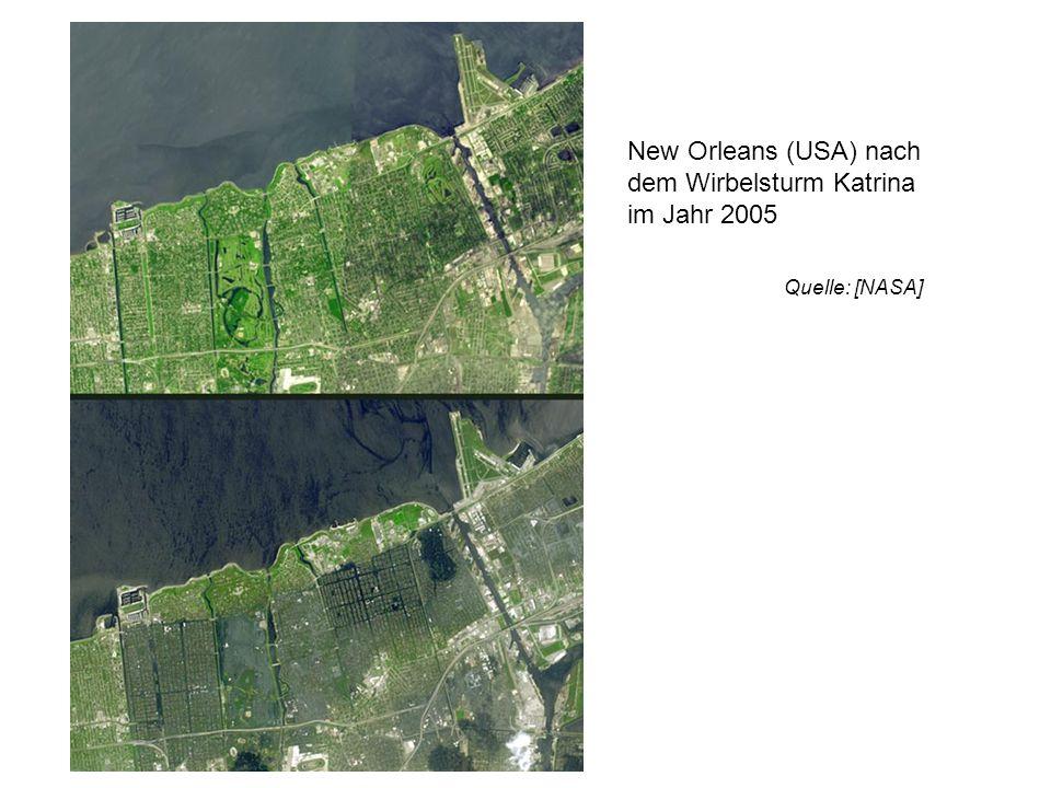 New Orleans (USA) nach dem Wirbelsturm Katrina im Jahr 2005