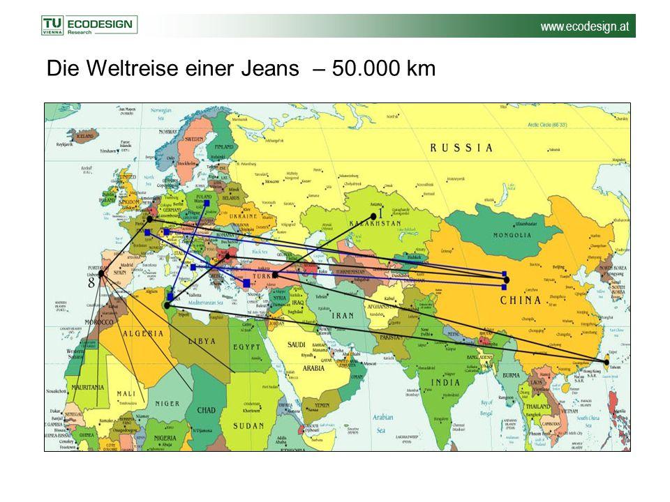 Die Weltreise einer Jeans – 50.000 km
