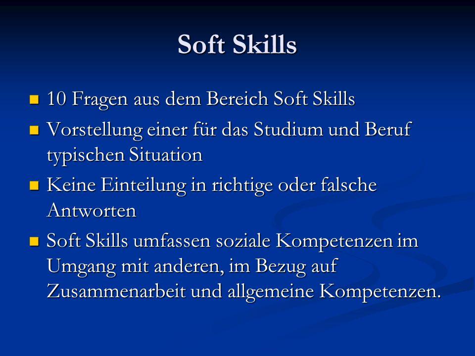 Soft Skills 10 Fragen aus dem Bereich Soft Skills