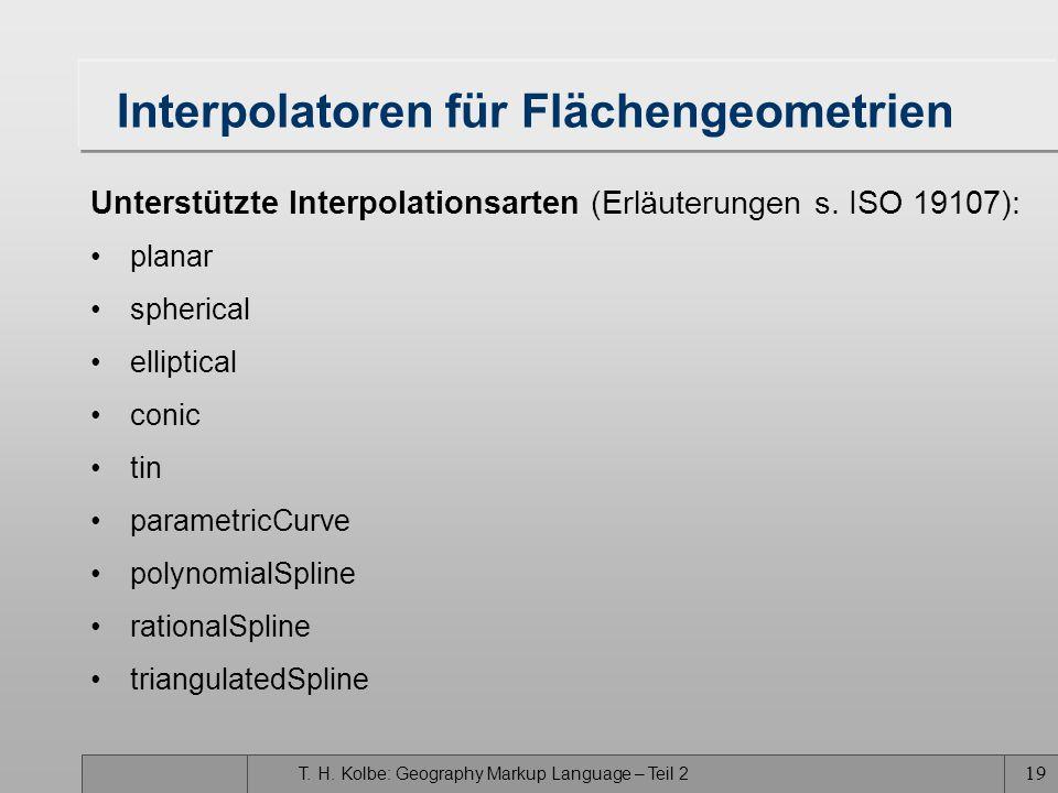 Interpolatoren für Flächengeometrien
