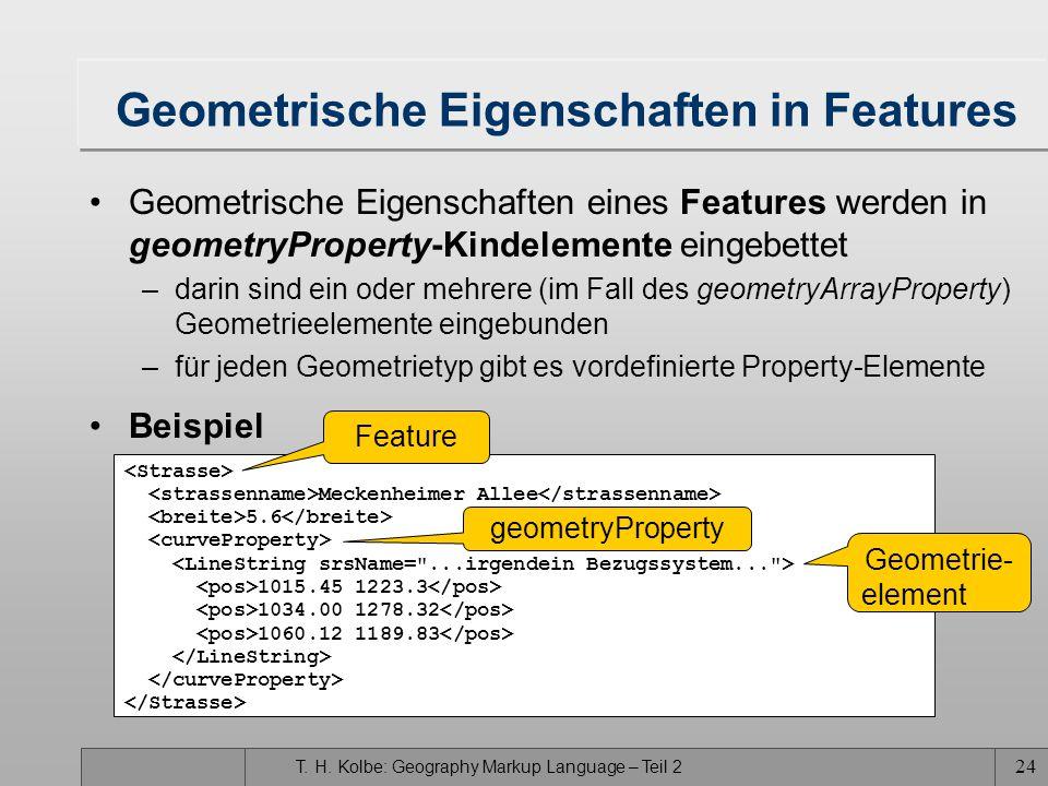 Geometrische Eigenschaften in Features