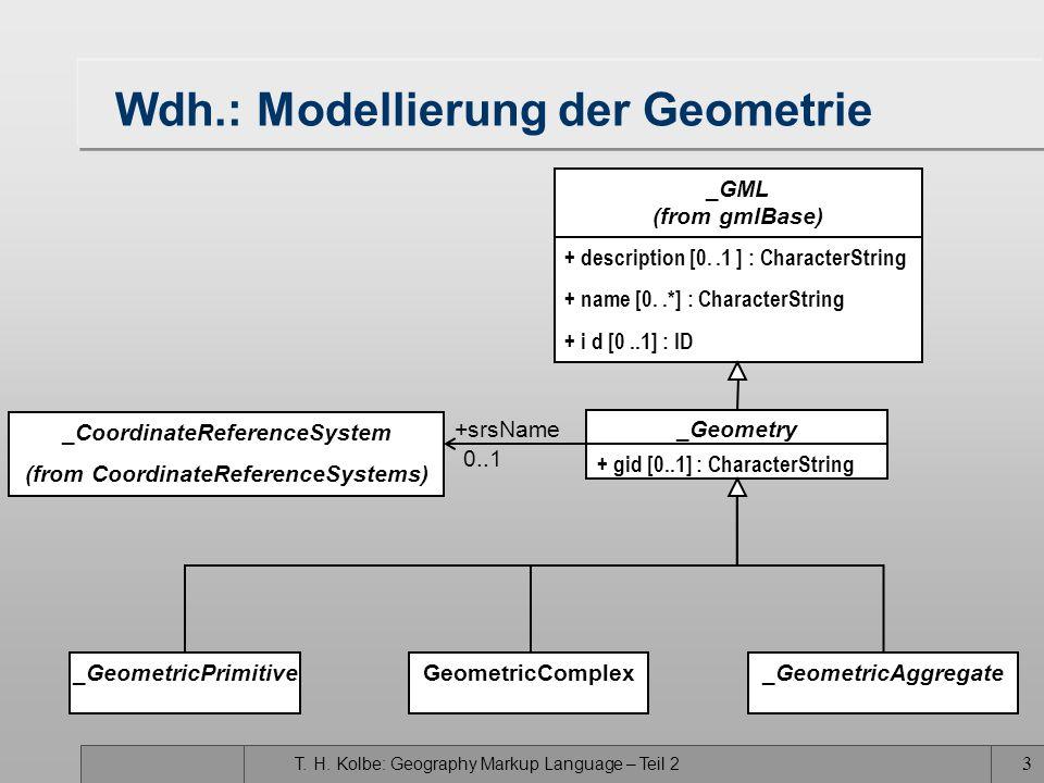 Wdh.: Modellierung der Geometrie