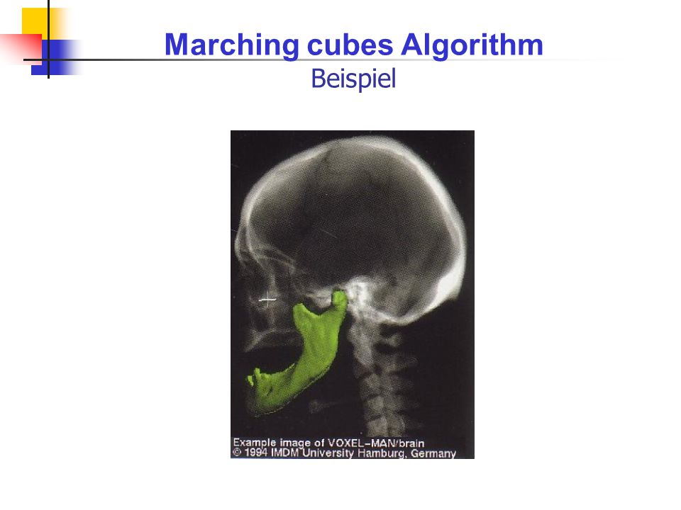Marching cubes Algorithm Beispiel