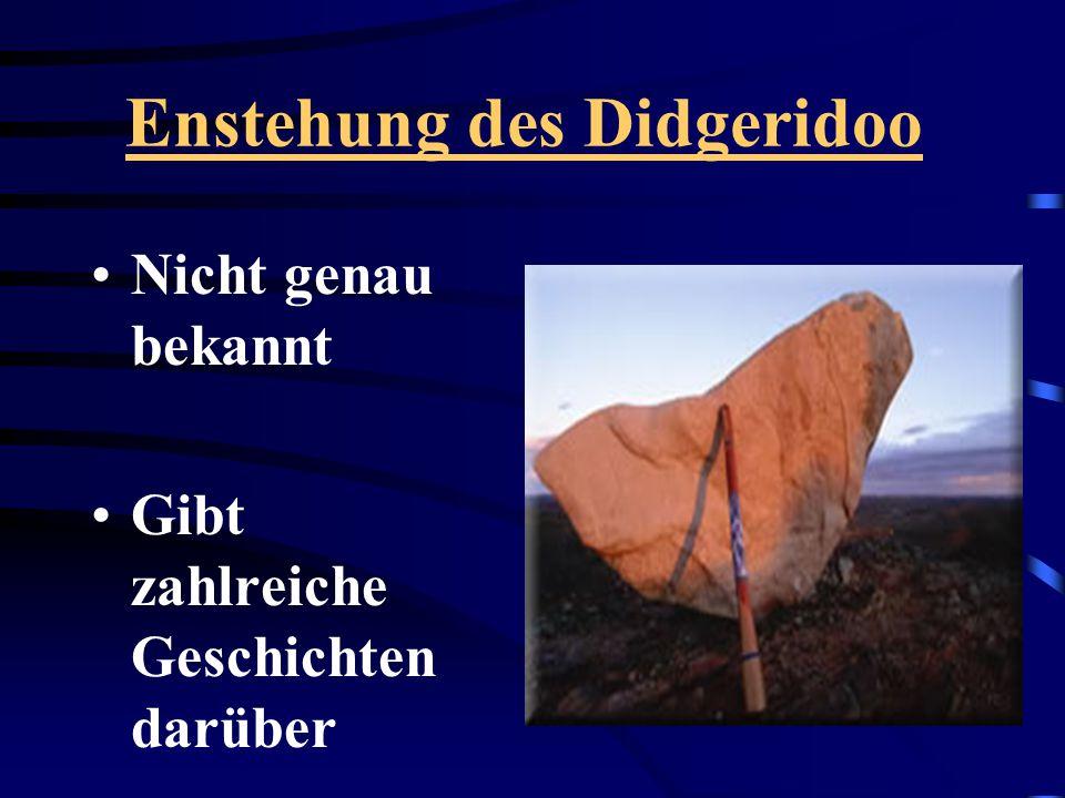 Enstehung des Didgeridoo