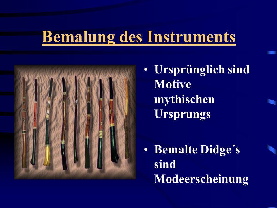 Bemalung des Instruments