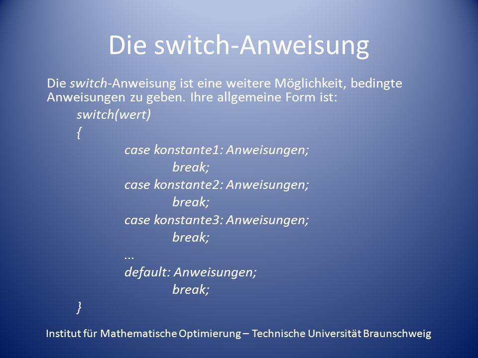 Die switch-Anweisung