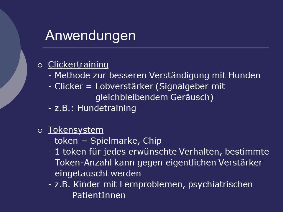 Anwendungen Clickertraining