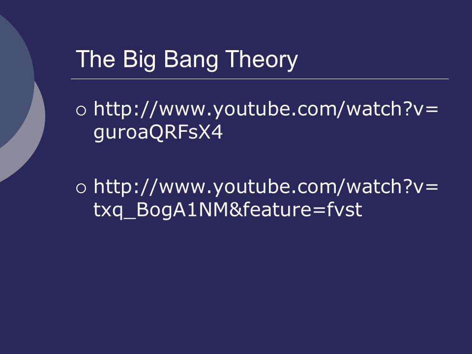 The Big Bang Theory http://www.youtube.com/watch v=guroaQRFsX4