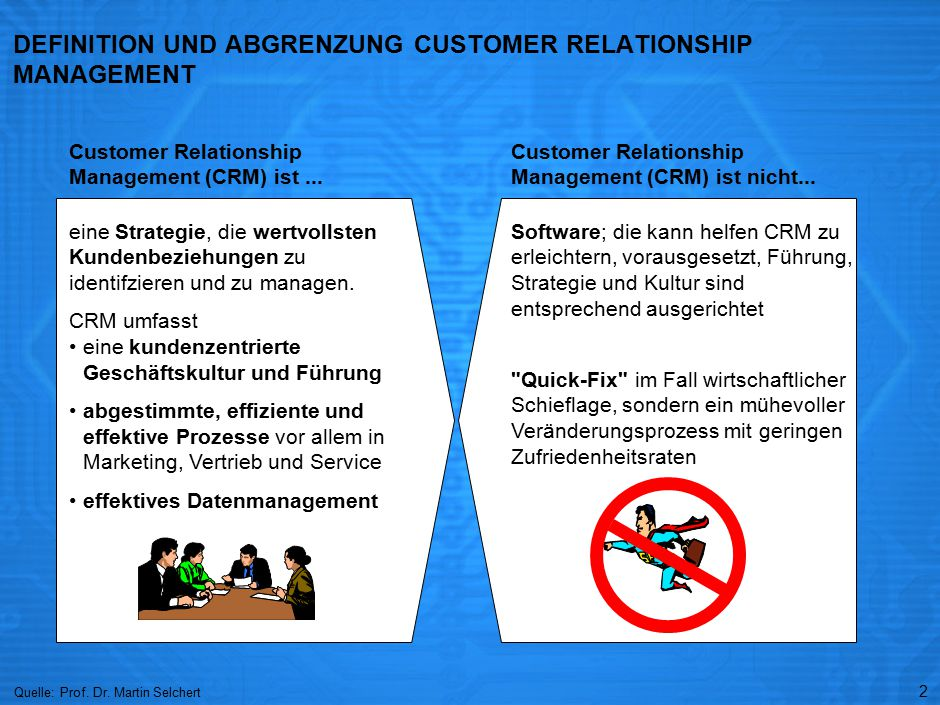 BEGRÜNDUNG BOOM IM CUSTOMER RELATIONSHIP MANAGEMENT