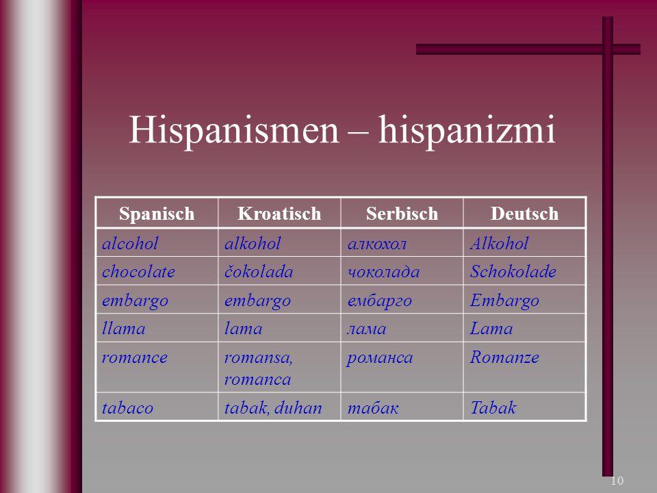Hispanismen – hispanizmi