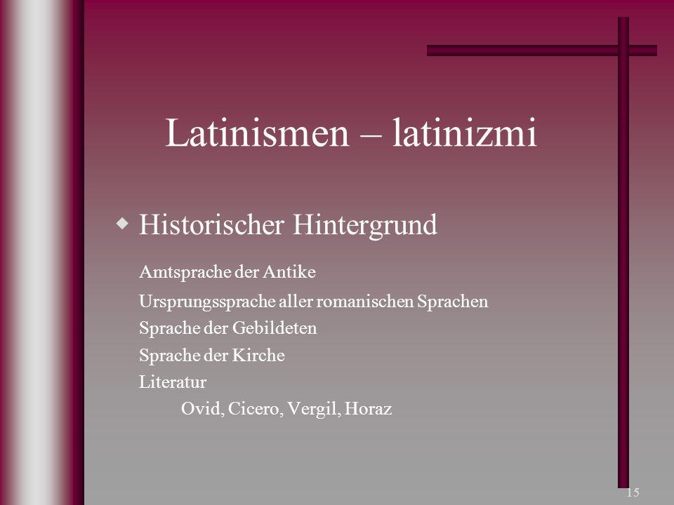 Latinismen – latinizmi
