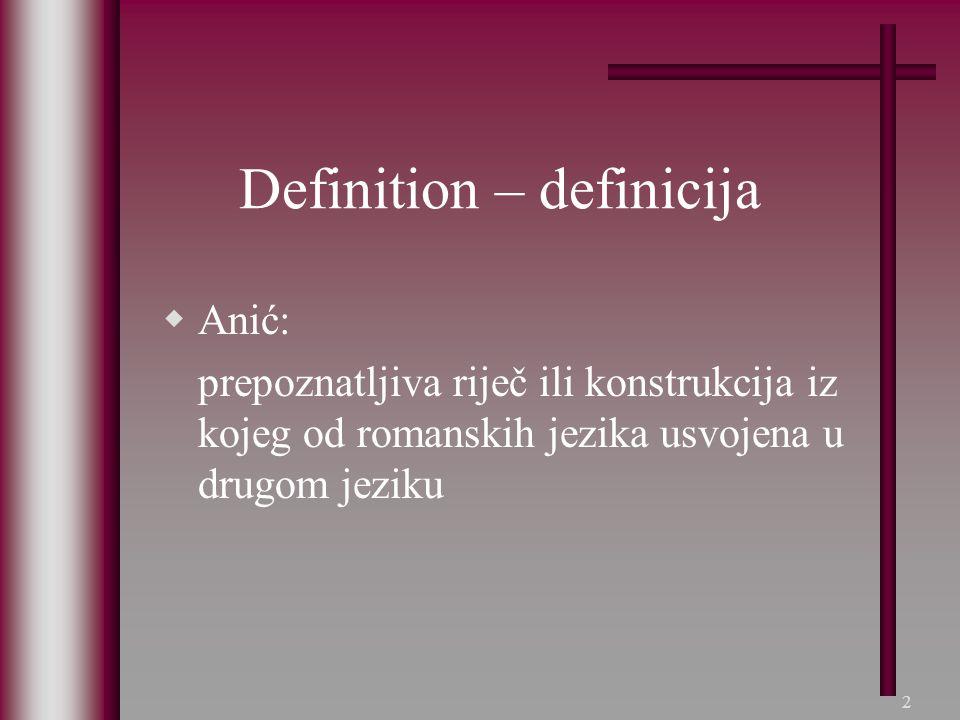 Definition – definicija