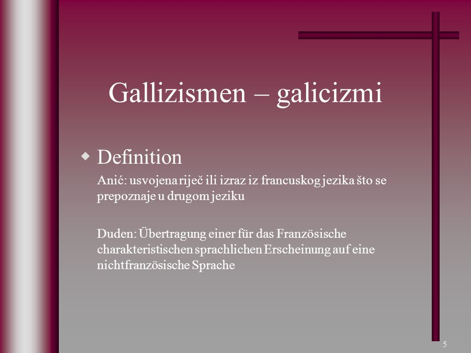 Gallizismen – galicizmi