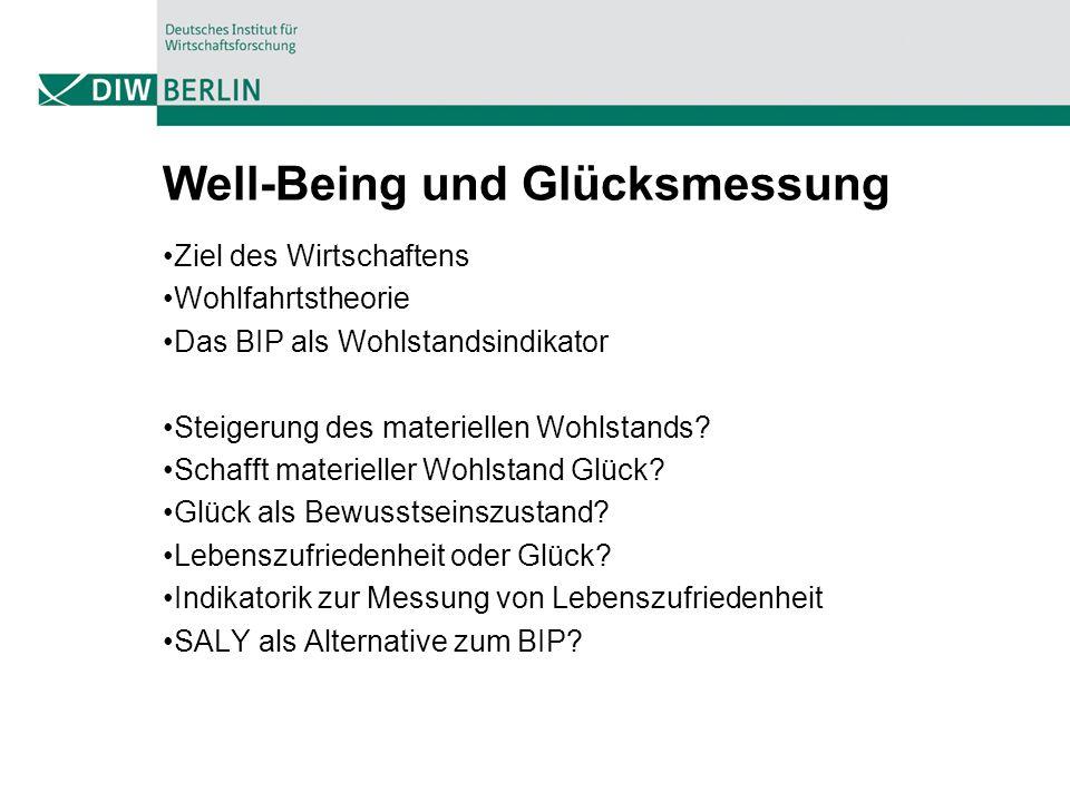 Well-Being und Glücksmessung