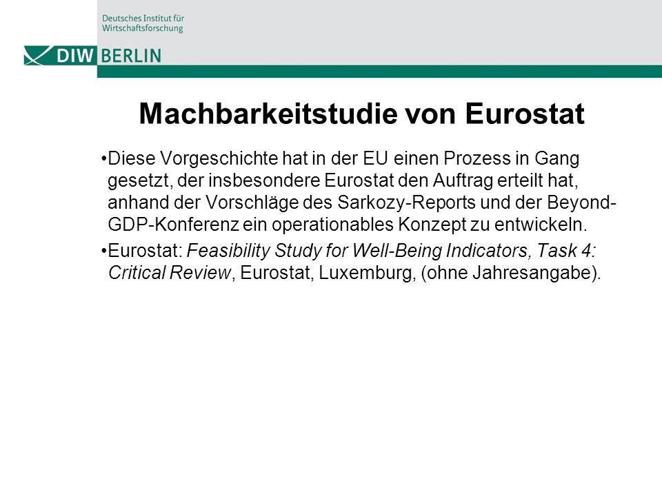 Machbarkeitstudie von Eurostat