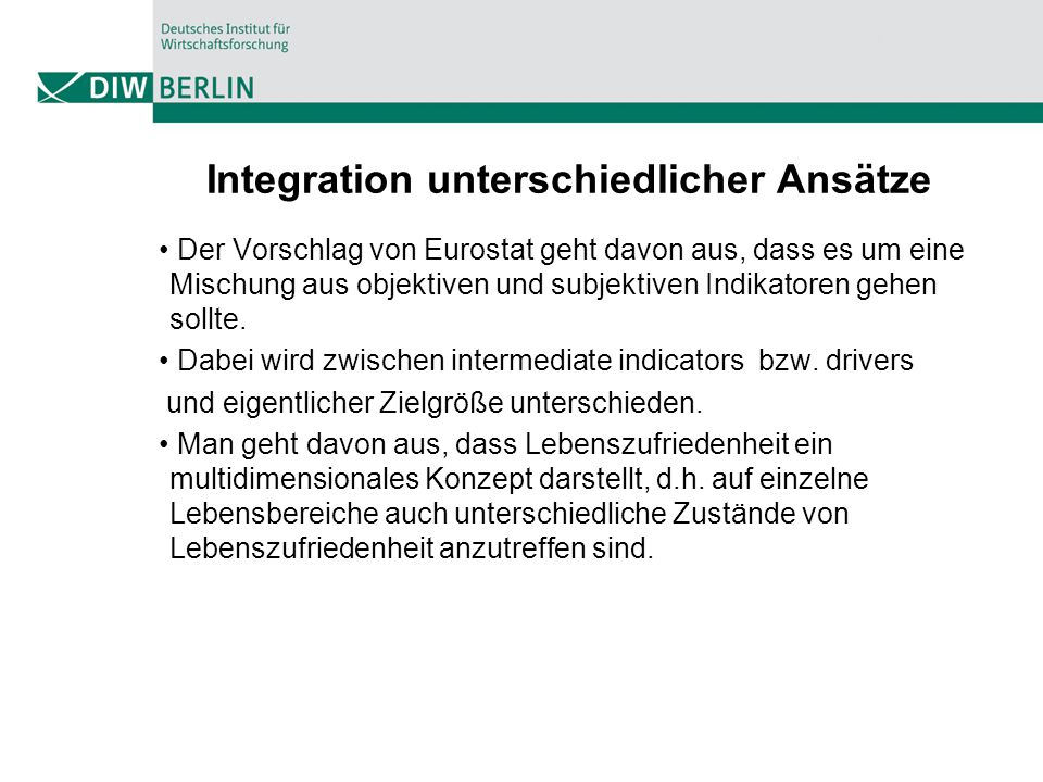 Integration unterschiedlicher Ansätze