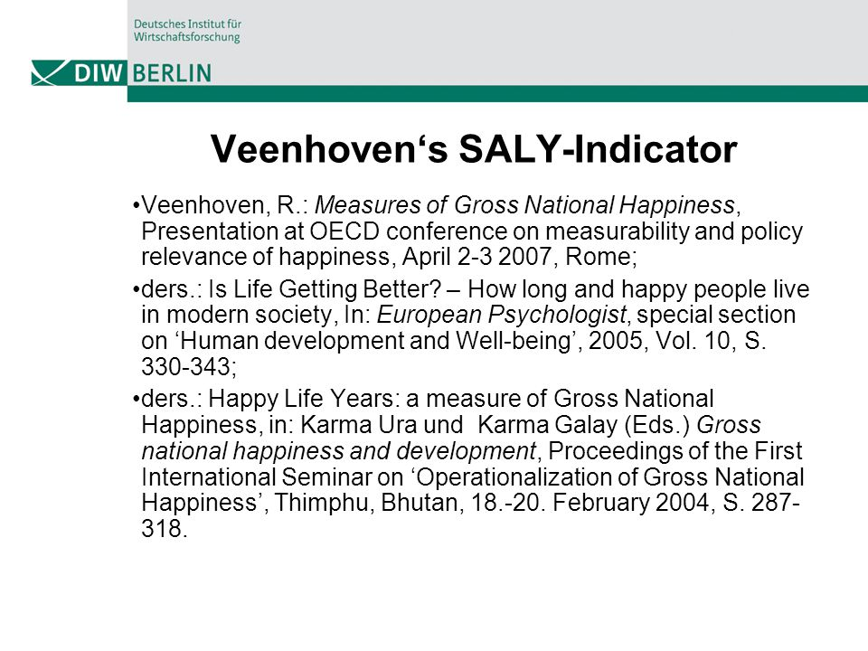Veenhoven's SALY-Indicator