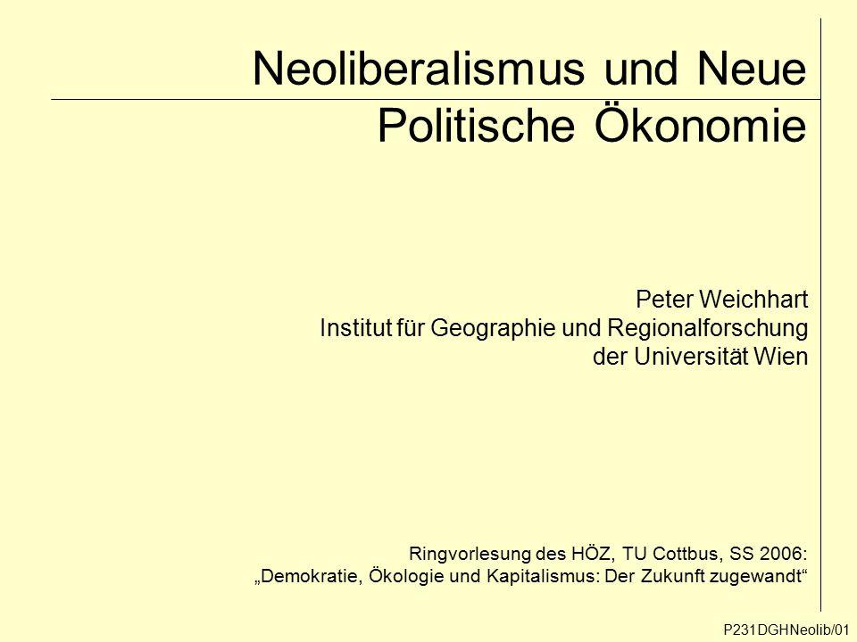 Neoliberalismus und Neue Politische Ökonomie