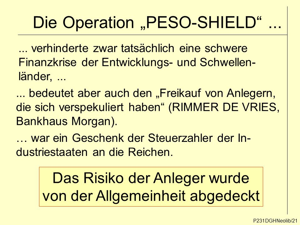 "Die Operation ""PESO-SHIELD ..."