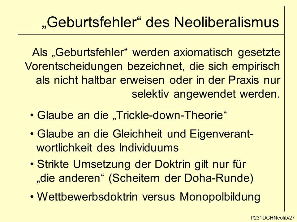 """""""Geburtsfehler des Neoliberalismus"""