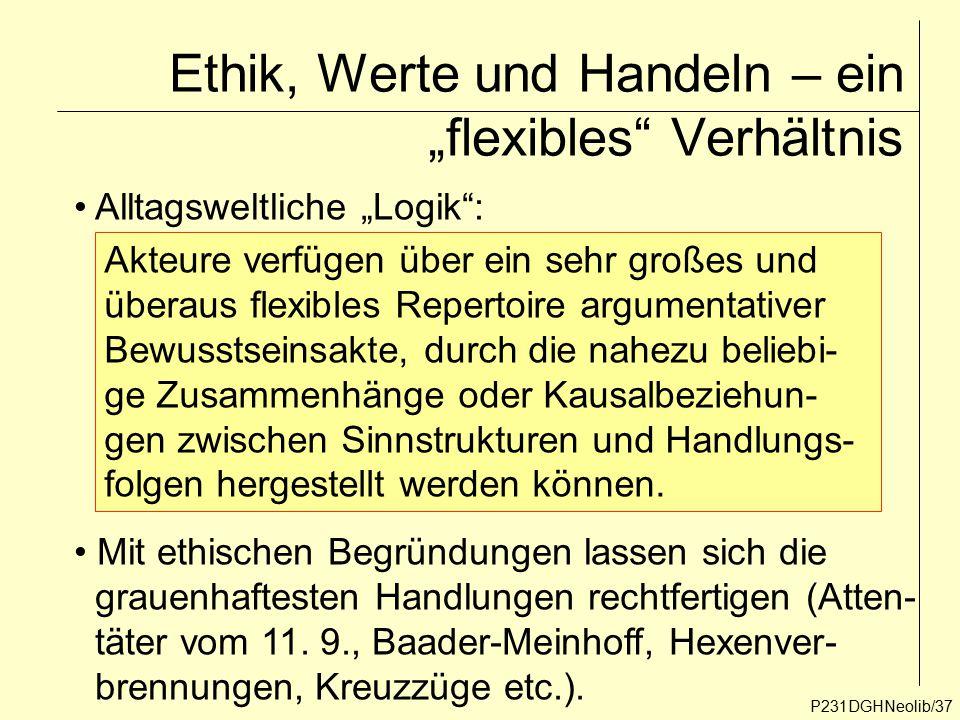 """Ethik, Werte und Handeln – ein """"flexibles Verhältnis"""