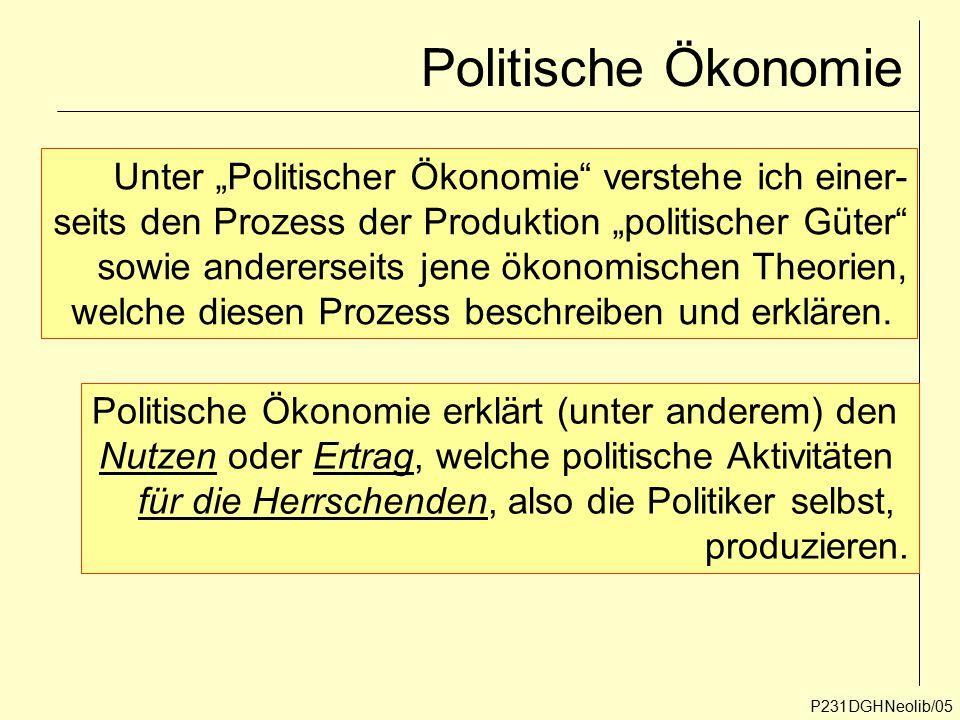 """Politische Ökonomie Unter """"Politischer Ökonomie verstehe ich einer-"""