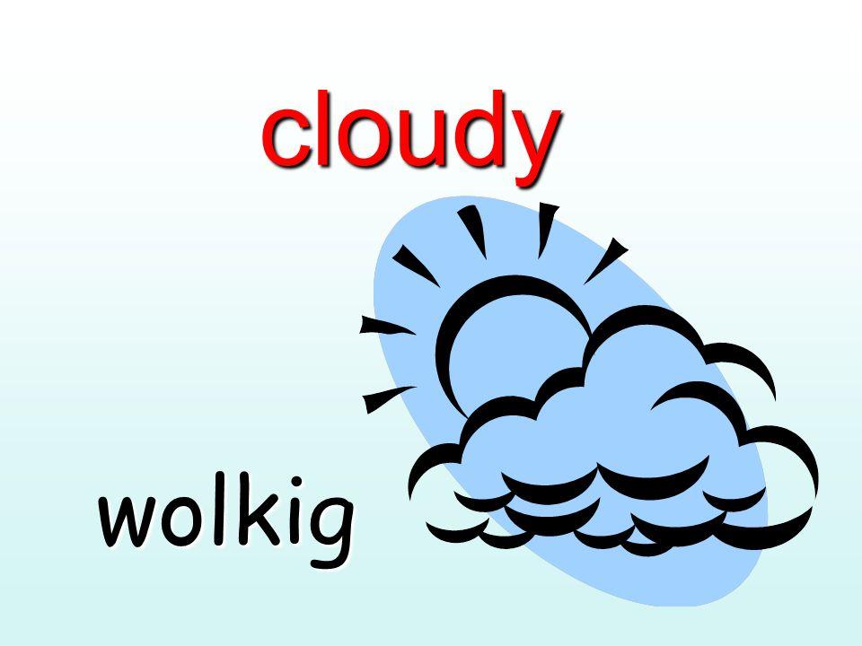 cloudy wolkig