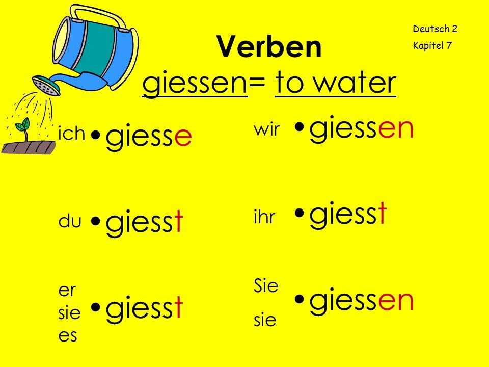 Verben giessen= to water