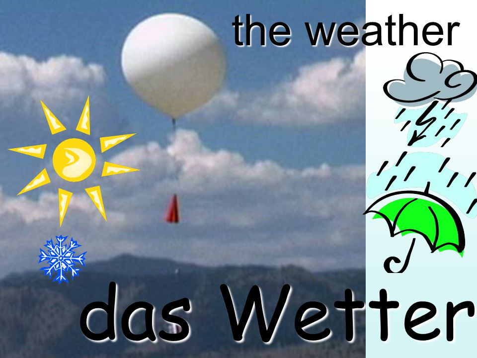 the weather das Wetter