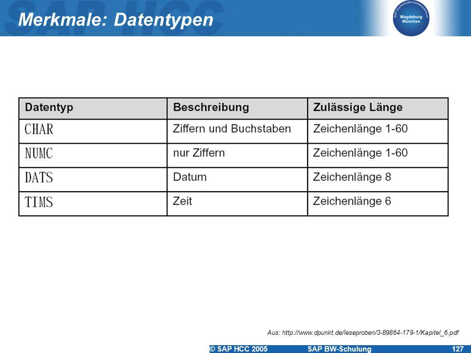 Merkmale: Datentypen Aus: http://www.dpunkt.de/leseproben/3-89864-179-1/Kapitel_6.pdf