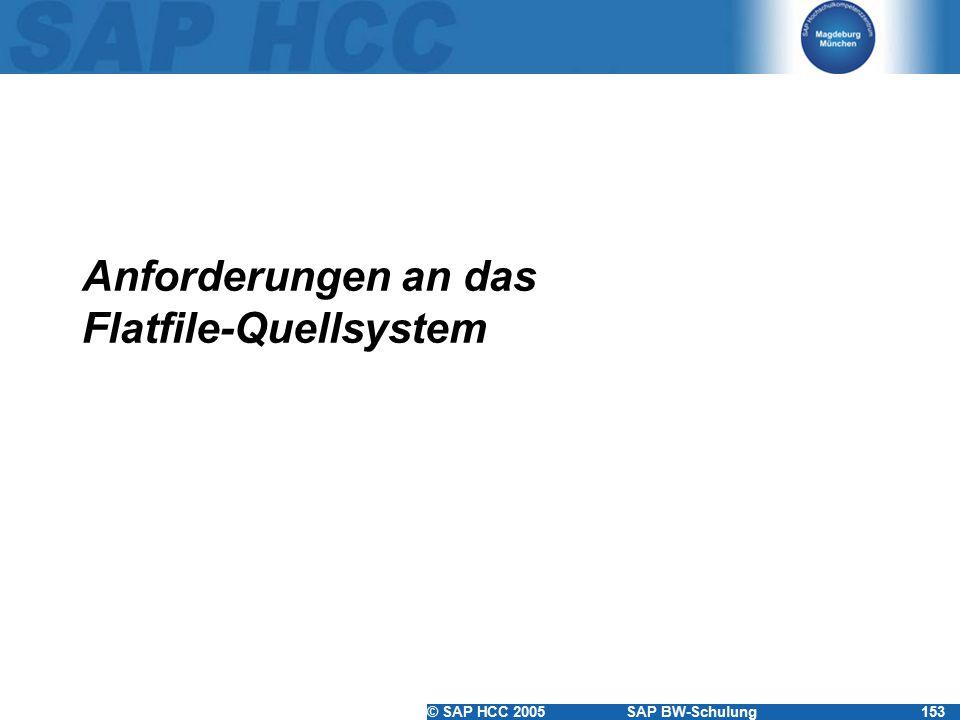 Anforderungen an das Flatfile-Quellsystem