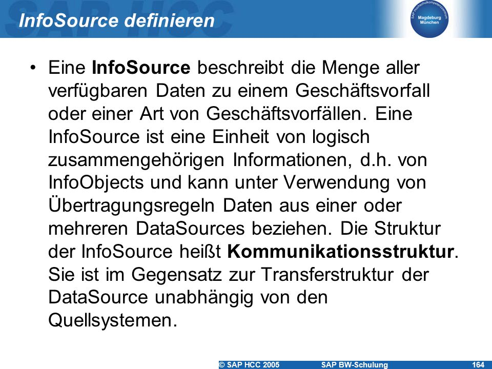 InfoSource definieren
