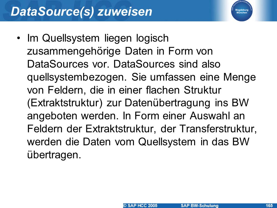 DataSource(s) zuweisen