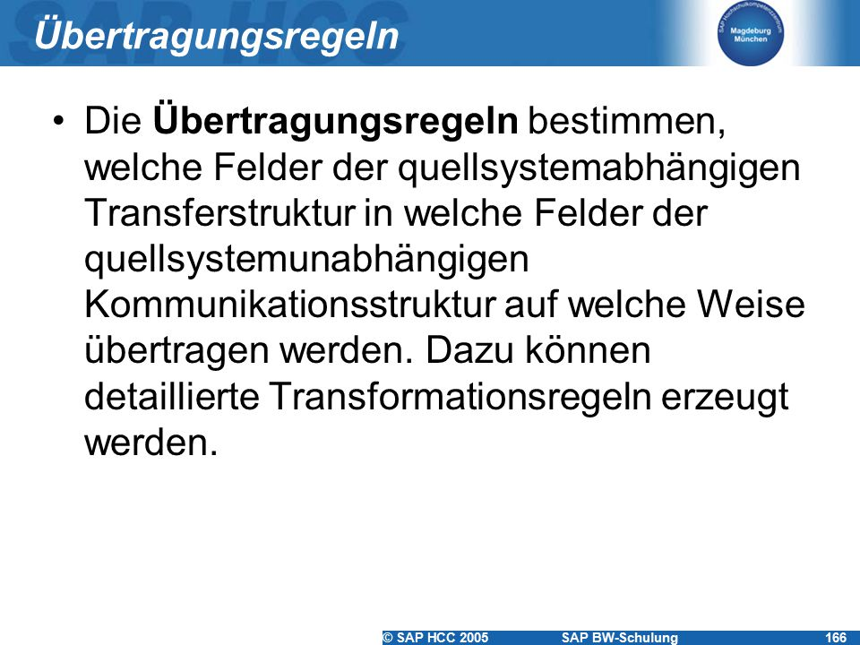 Übertragungsregeln