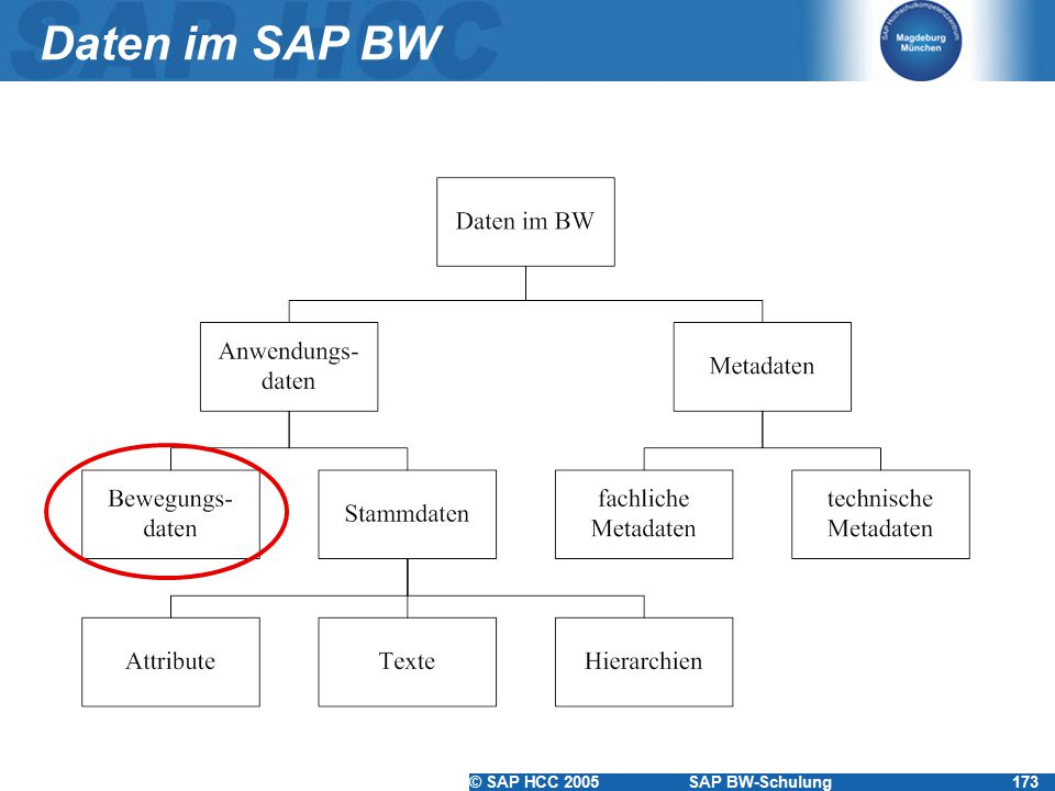 Daten im SAP BW