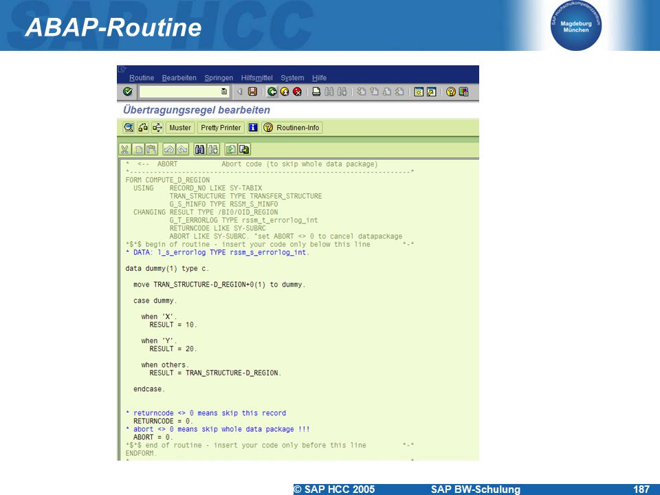ABAP-Routine