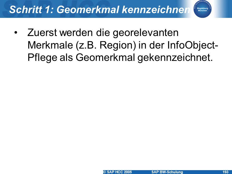 Schritt 1: Geomerkmal kennzeichnen