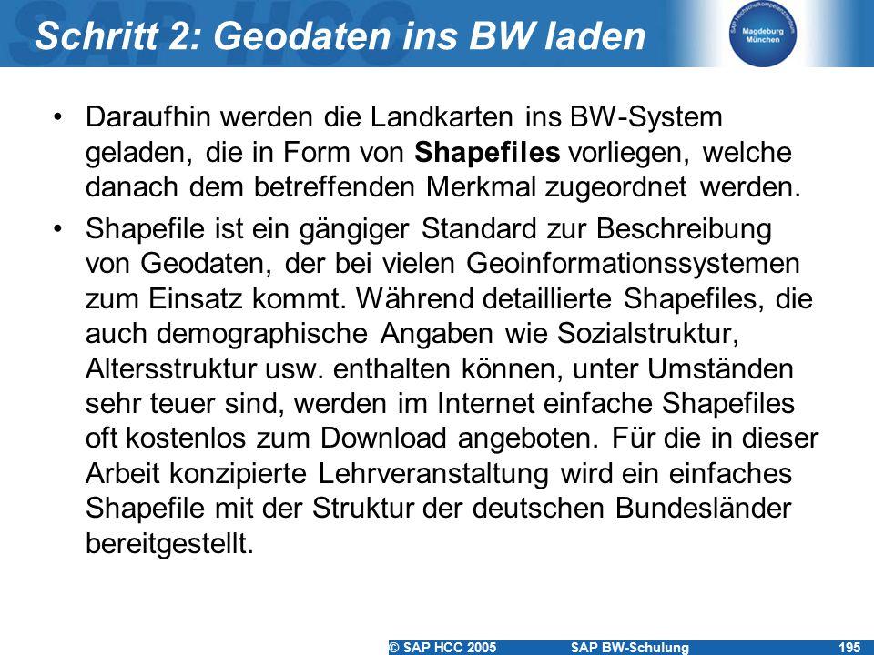 Schritt 2: Geodaten ins BW laden