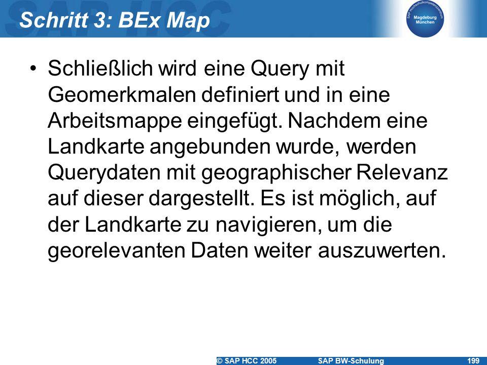 Schritt 3: BEx Map